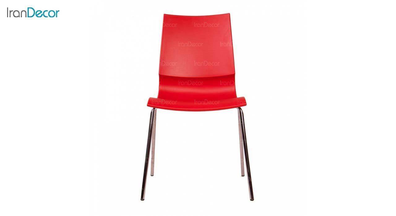 صندلی پلاستیکی مدل رونی RO62 قرمز از استیل هامون