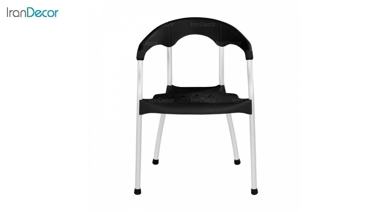 صندلی دسته دار پلاستیکی مدل سرنا SE63 مشکی از استیل هامون
