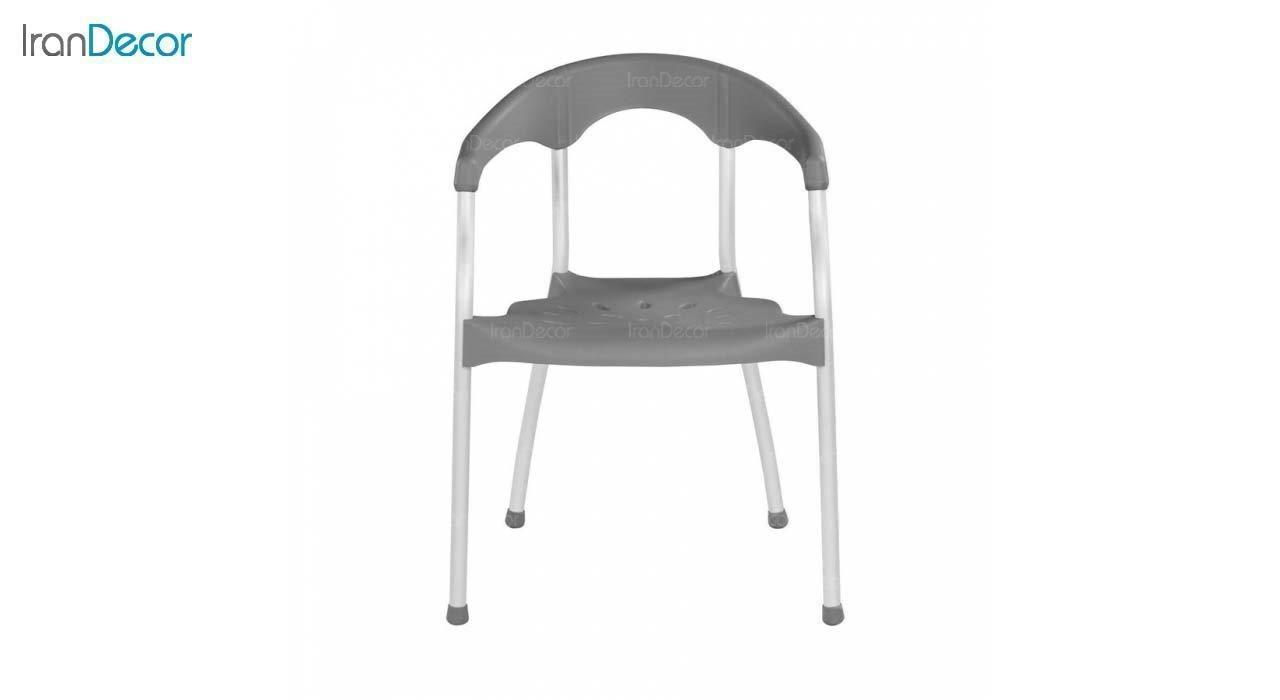 صندلی دسته دار پلاستیکی مدل سرنا SE63 طوسی از استیل هامون