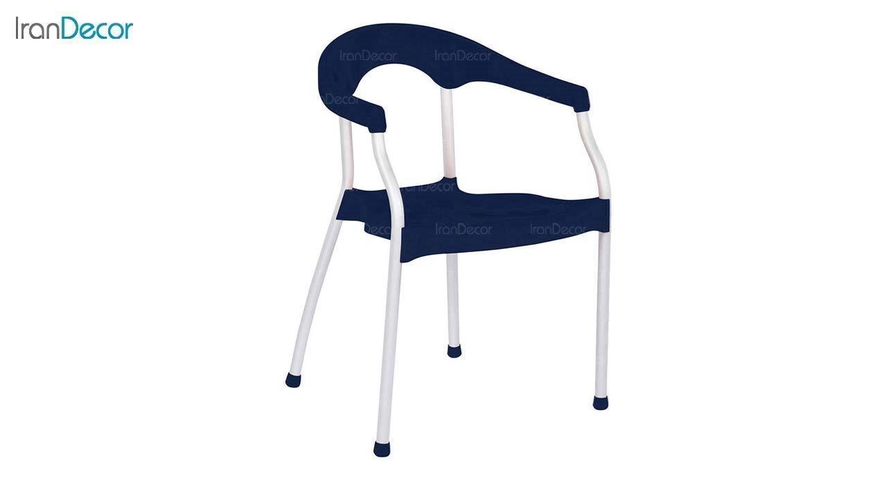 صندلی دسته دار پلاستیکی مدل سرنا SE63 سرمه ای از استیل هامون