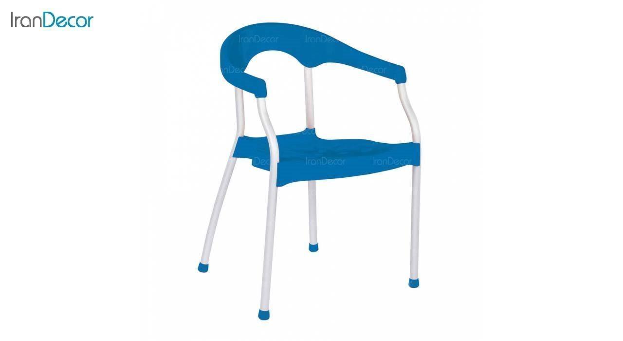 صندلی دسته دار پلاستیکی مدل سرنا SE63 آبی از استیل هامون