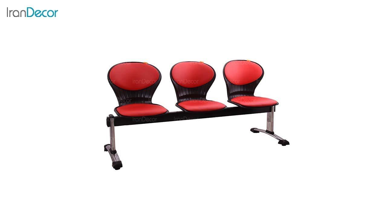 صندلی انتظار سه نفره مدل صدفی WS3 از استیل هامون