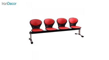 صندلی انتظار چهار نفره مدل صدفی WS4 از استیل هامون