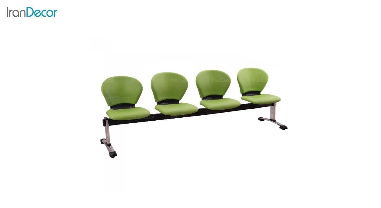 صندلی انتظار چهار نفره مدل صدفی WST4 از استیل هامون