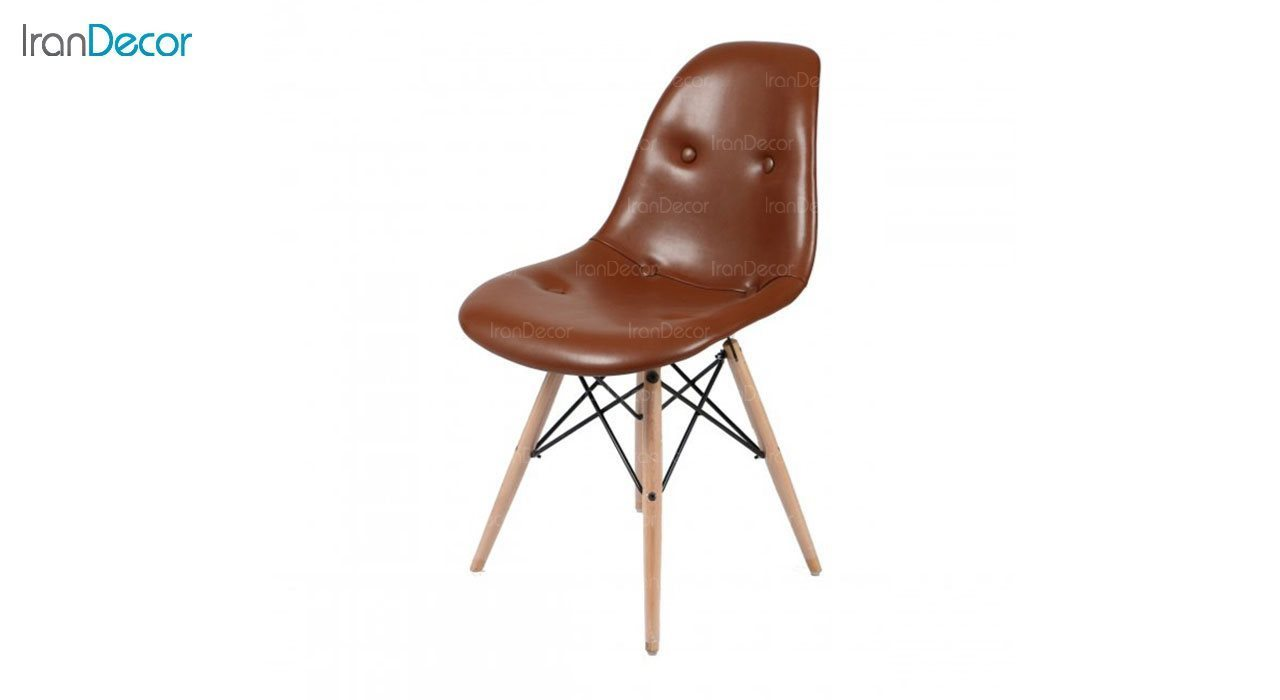 صندلی داووس مدل DATW قهوه ای از استیل هامون