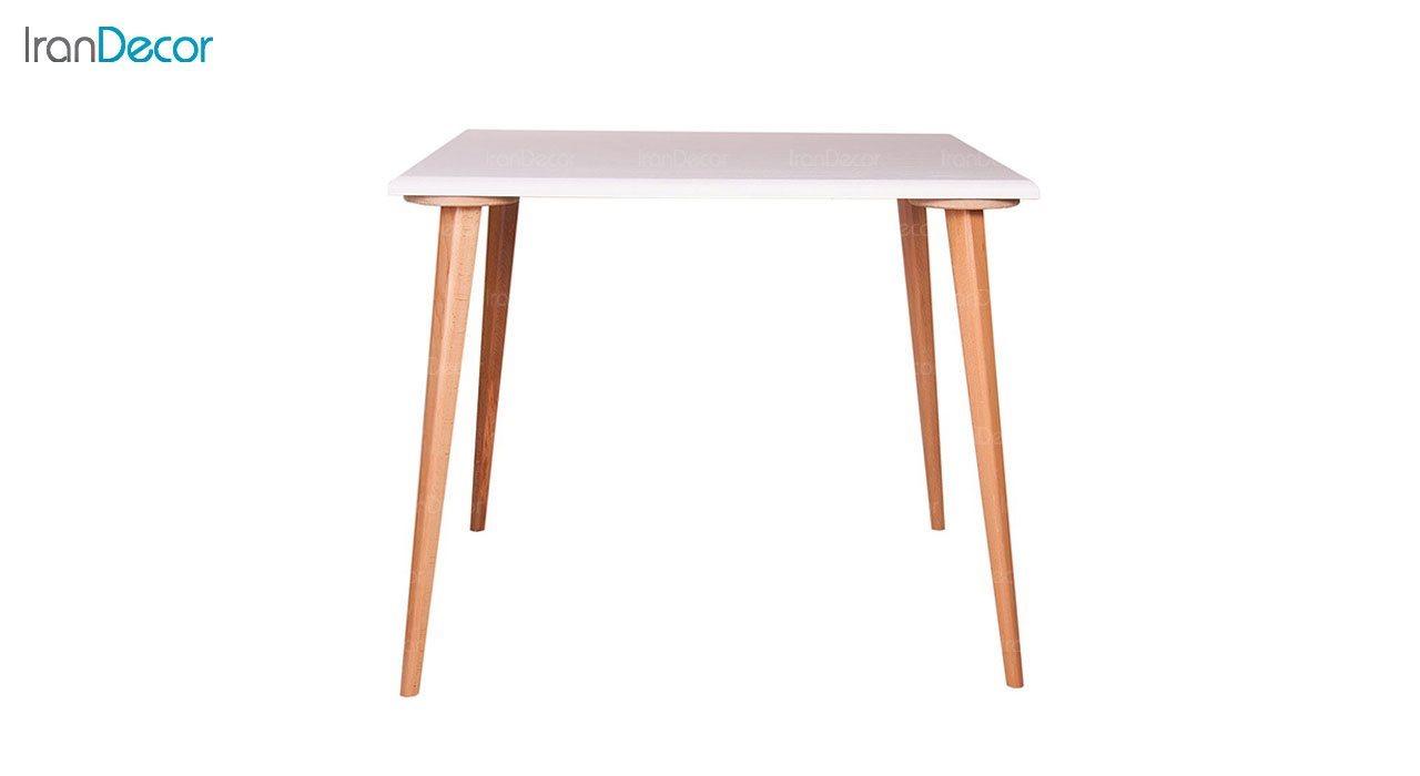 میز ناهار خوری چهار نفره چوبی مربع مدل TC2 از استیل هامون