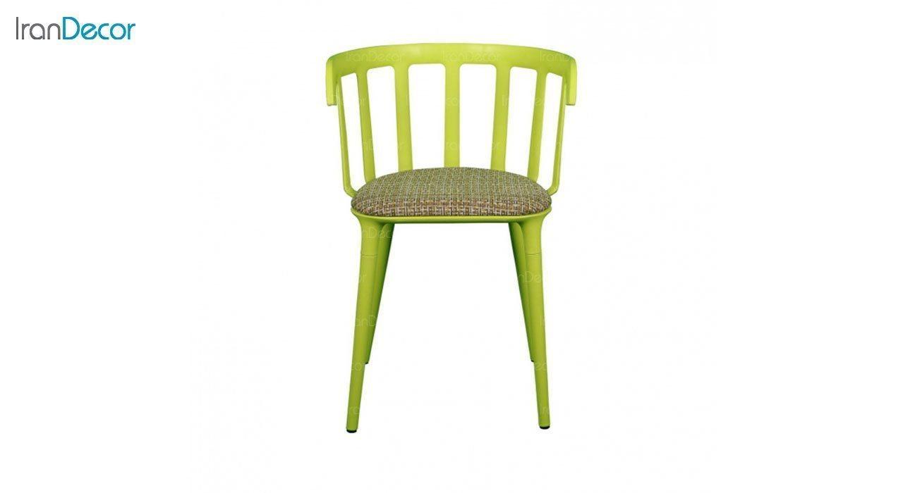 صندلی دسته دار مدل وینسو WIT سبز از استیل هامون