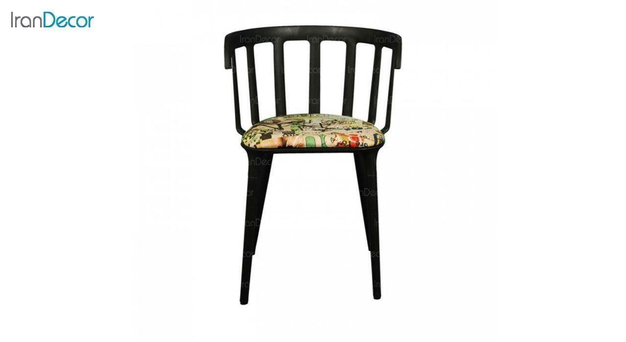 صندلی دسته دار مدل وینسو WIT-2 طرح دار از استیل هامون
