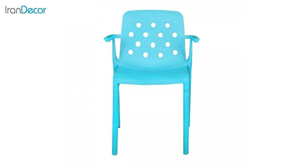 صندلی دسته دار مدل بریس BR63 آبی از استیل هامون