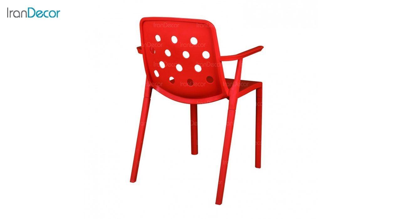 صندلی دسته دار مدل بریس BR63 قرمز از استیل هامون