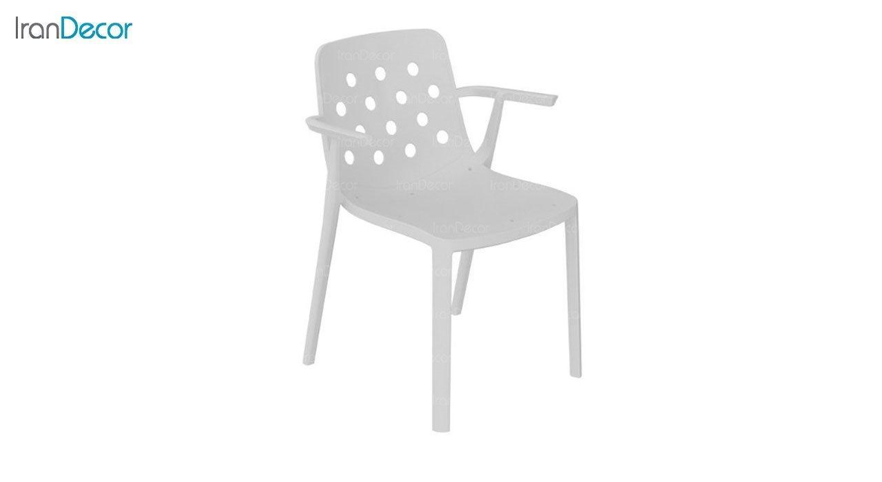 صندلی دسته دار مدل بریس BR63 سفید از استیل هامون