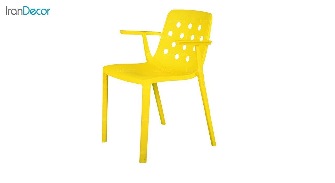صندلی دسته دار مدل بریس BR63 زرد از استیل هامون