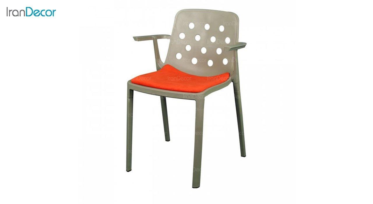 صندلی دسته دار مدل بریس BRT63 نارنجی از استیل هامون