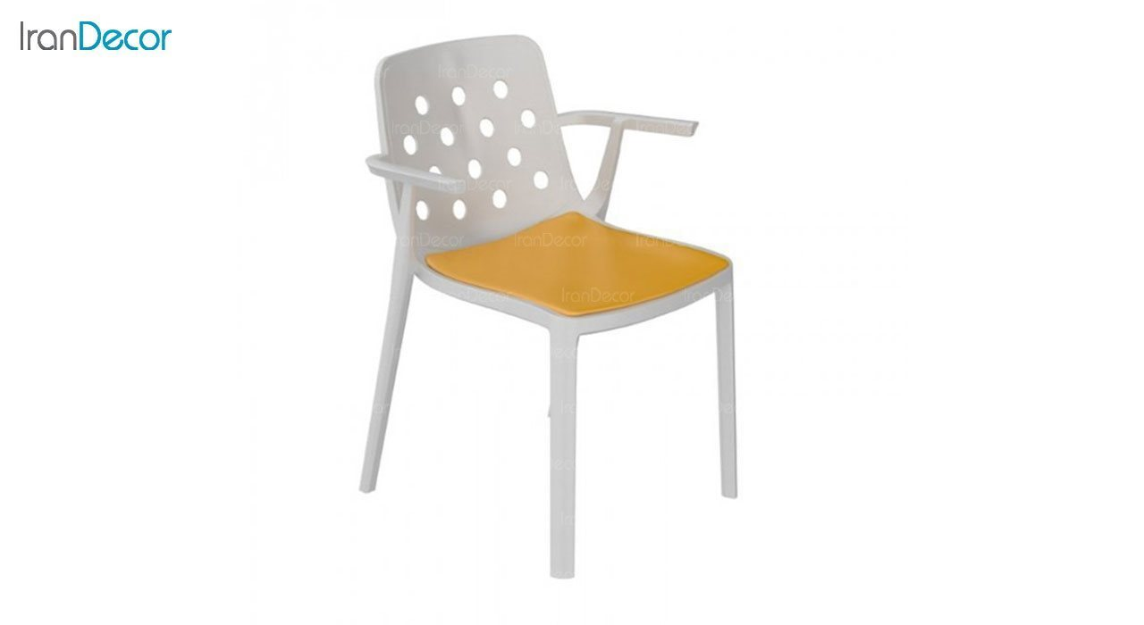 صندلی دسته دار مدل بریس BRT63 زرد از استیل هامون