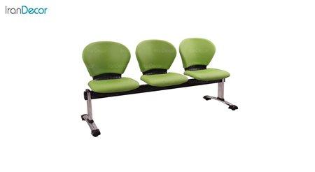 صندلی انتظار سه نفره مدل صدفی WST3 از استیل هامون
