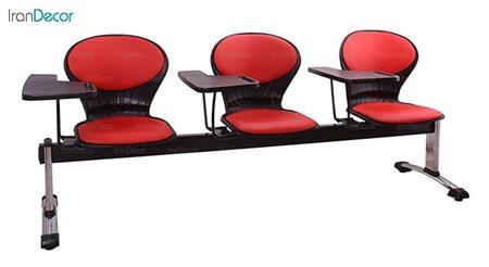 صندلی انتظار سه نفره دسته دار آموزشی مدل صدفی WS3-623 از استیل هامون