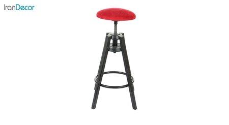 چهارپایه اپن گردان فلزی مدل فانتزی از استیل هامون