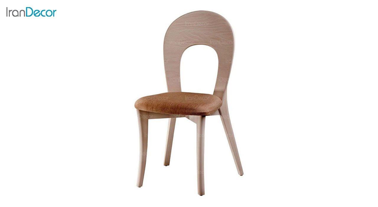 صندلی ناهار خوری مدل ارکیده با پشتی چوبی از فاما