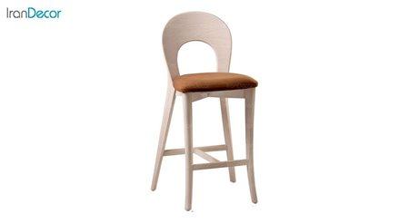 صندلی کانتر مدل ارکیده با پشتی چوبی از فاما