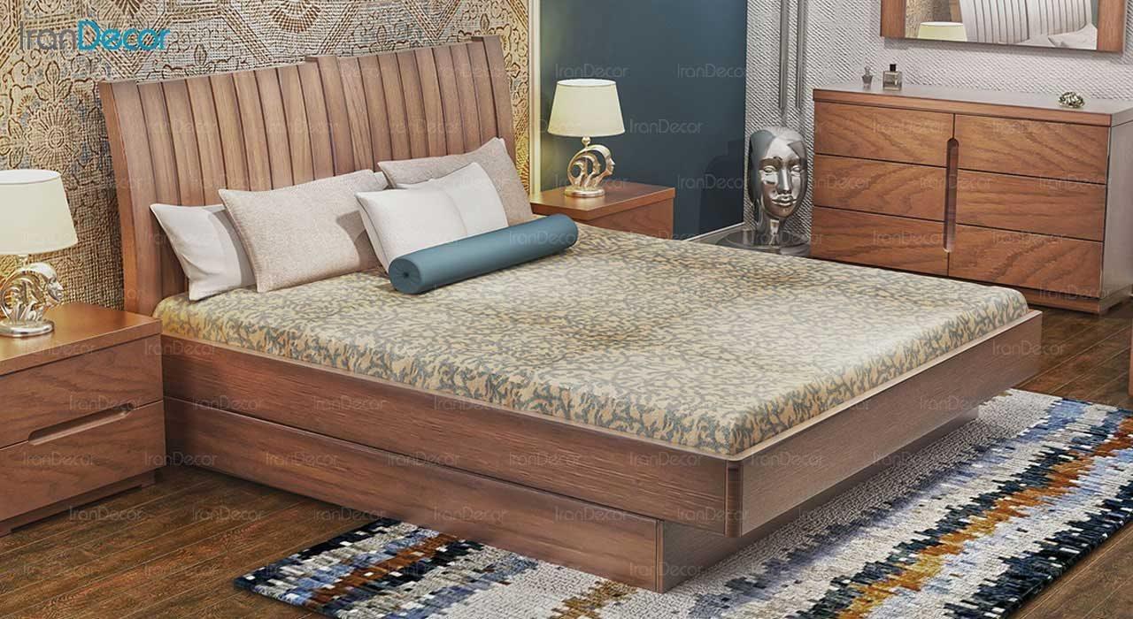 تخت خواب دو نفره مدل باربد