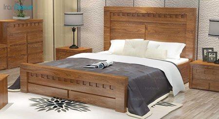 تخت خواب دو نفره مدل شبکه ای