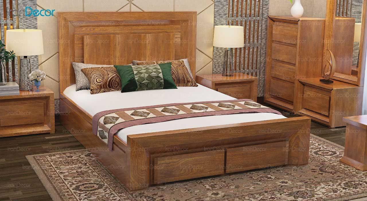 تخت خواب دو نفره مدل سناتور