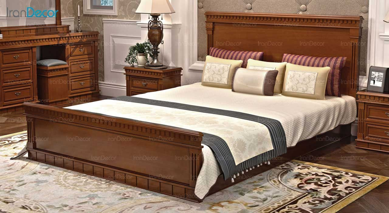 تخت خواب دو نفره مدل پاسارگاد