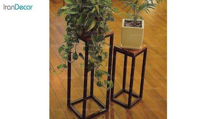 پایه گلدان تمام چوب مدل 2FD