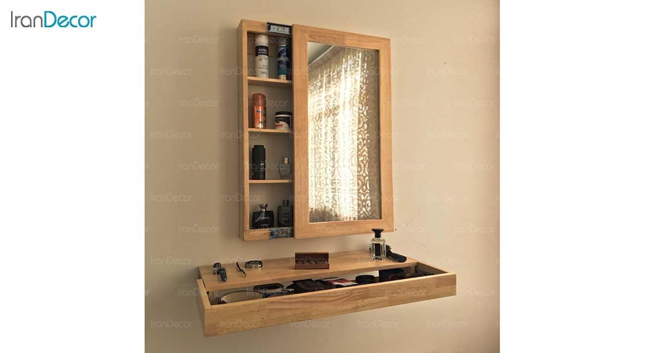 آینه و شلف کشویی طرح ایکیا مدل سفیر