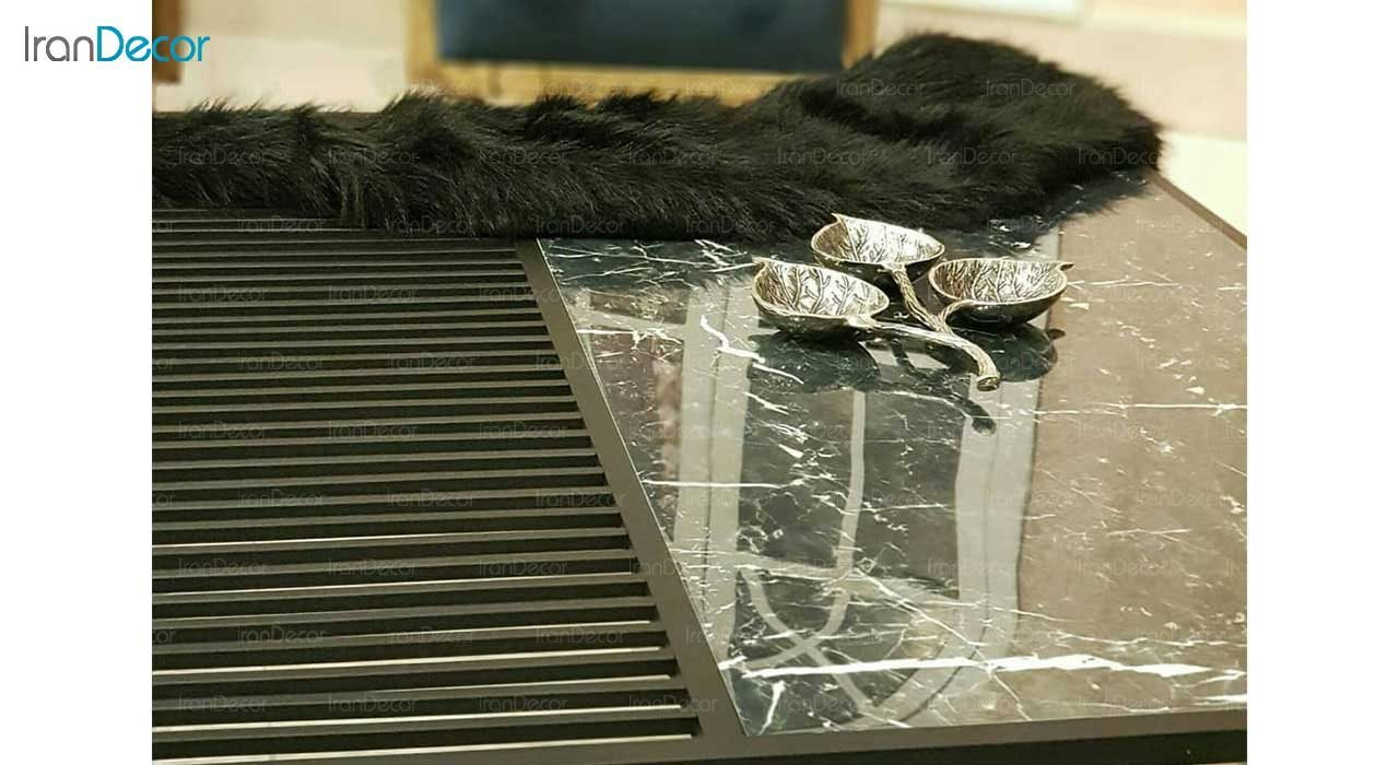 میز جلو مبلی مدرن سرامیکی لافت مدل آلما