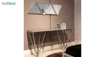 میز و آینه کنسول مدرن سنگی لافت مدل برگامو