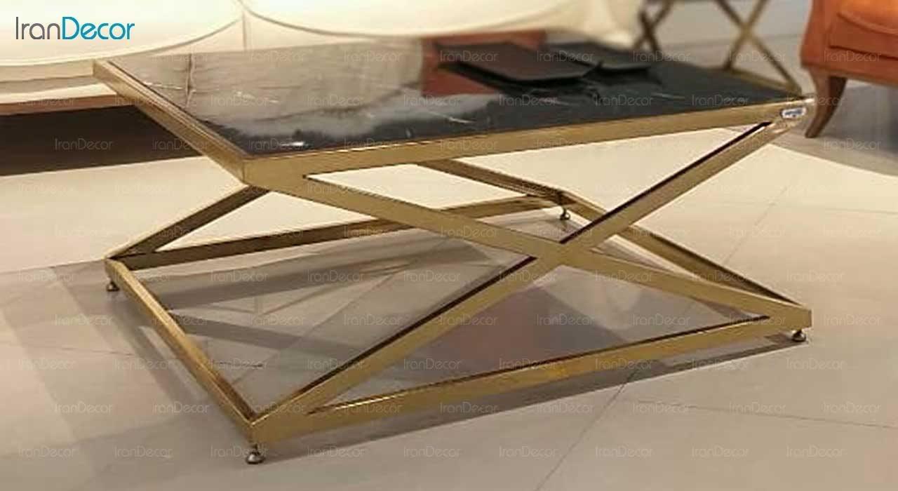میز جلو مبلی مدرن سنگی لافت مدل لوکا