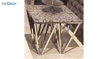 میز عسلی مدرن سنگی لافت مدل برگامو