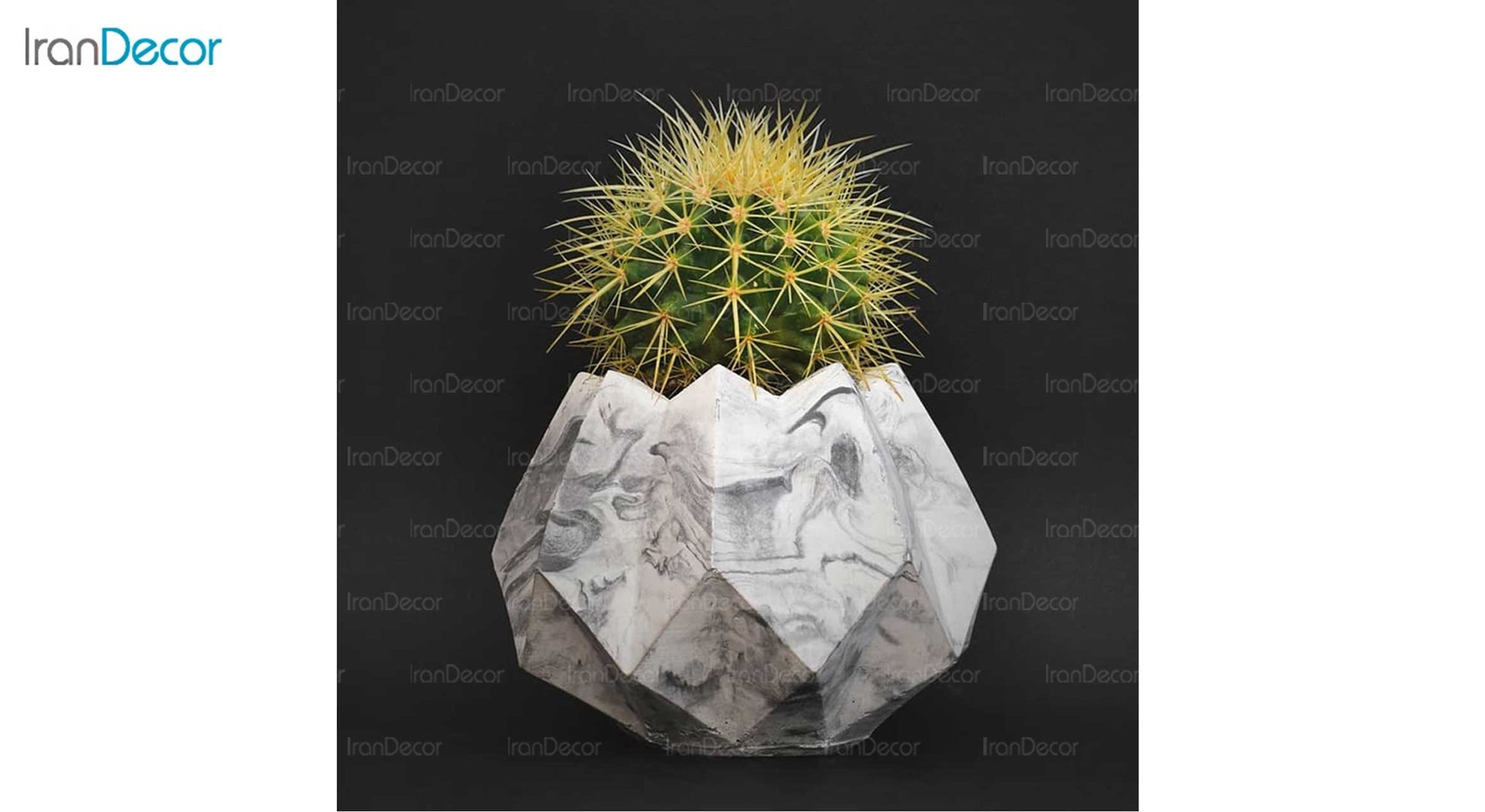 گلدان دکوری رومیزی سنگی هرا مدل H01 طرح ابر و باد