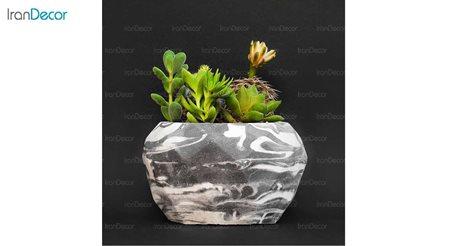 گلدان دکوری رومیزی سنگی هرا مدل H02 طرح ابر و باد