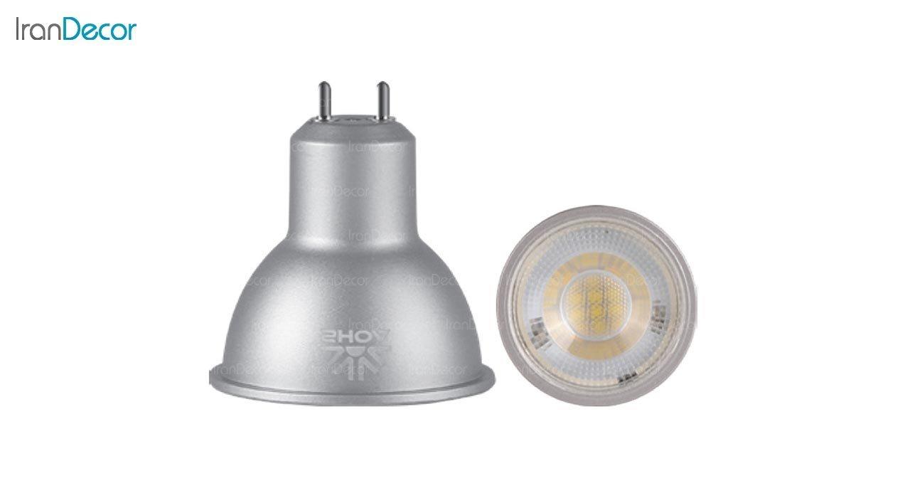 لامپ هالوژن ال ای دی 5 وات پایه سوزنی شعاع مدل SH-MR16-5W