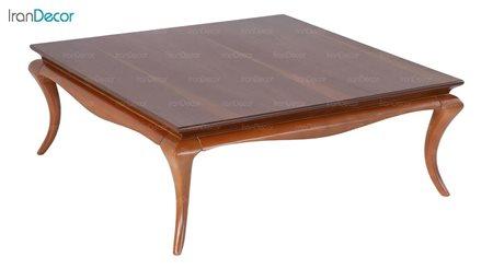 میز جلو مبلی چوبی مربع بِست مدل دیاموند