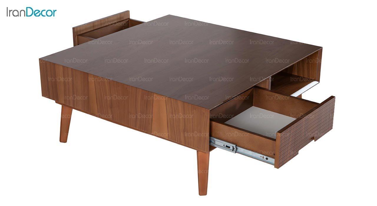 میز جلو مبلی چوبی مربع بِست مدل لاوین