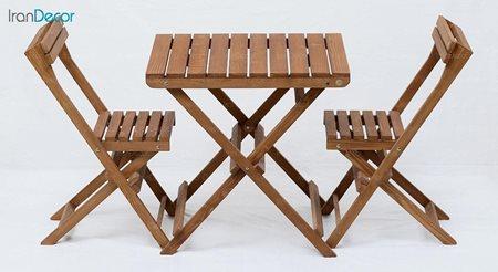 ست ناهار خوری تاشو دو نفره چوبی آرون مدل نوژن