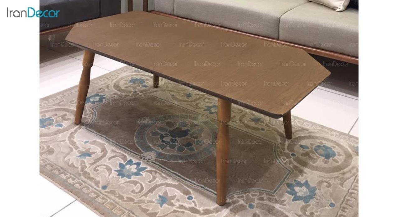 میز جلو مبلی چوبی آرون مدل ساوان