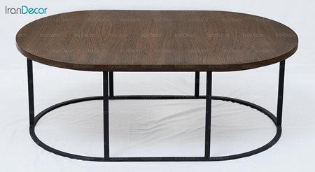 میز جلو مبلی چوبی آرون مدل آکو
