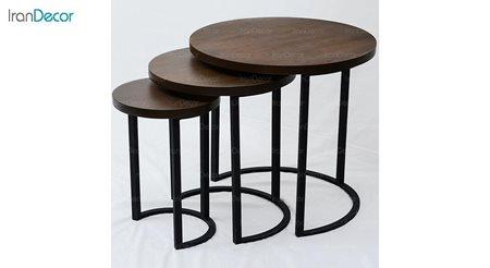 ست میز عسلی چوبی آرون مدل آکو