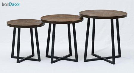 ست میز عسلی چوبی آرون مدل ساروس