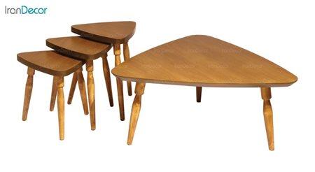ست میز جلو مبلی چوبی آرون مدل دنیس