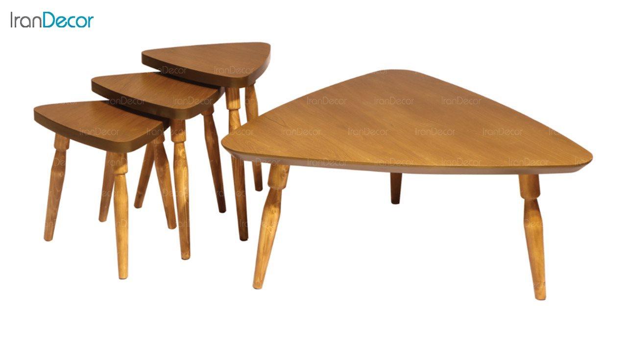 میز جلو مبلی چوبی آرون مدل دنیس
