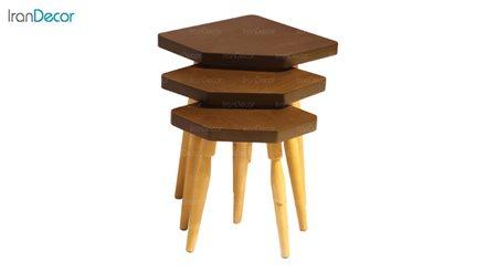 ست میز عسلی چوبی آرون مدل ساوان