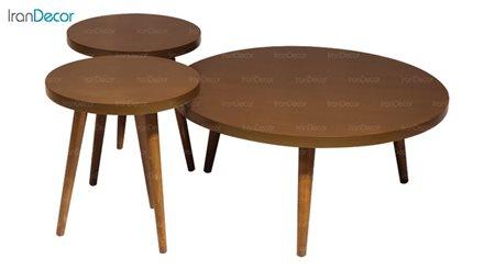 ست میز جلو مبلی چوبی آرون مدل مینوس