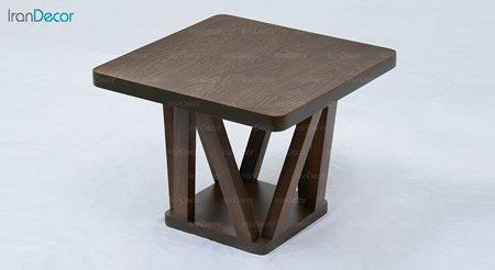 میز عسلی چوبی آرون مدل ژوبا