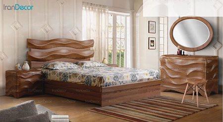 سرویس خواب دو نفره پارس چوب مدل فدرال