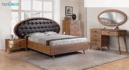 سرویس خواب دو نفره پارس چوب مدل پانار